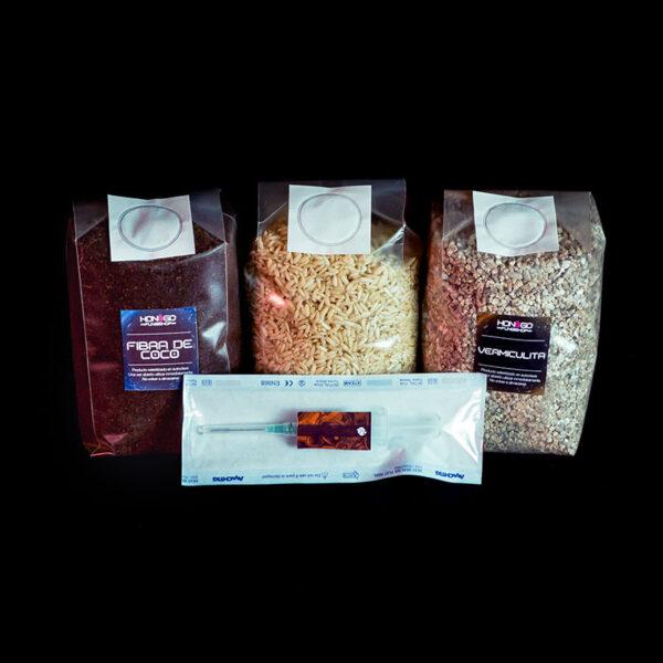 pack de sustratos para cultivo de hongos